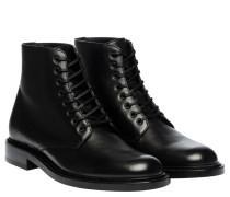 Schnürschuhe aus Leder in Schwarz