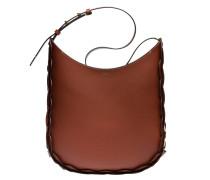 Handtasche aus Leder in Cognac/Braun/Orange