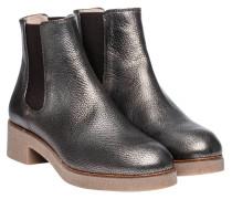 Stiefel aus Leder in Platin/Silber/Grau