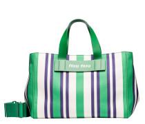Handtasche aus Leder in Grün