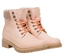 Boots aus Leder in Pink/Rosa/Violett