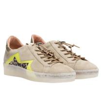 Sneaker aus Leder in Oliv/OlivGrün/Grün