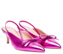 Pumps aus Leder in Fuchsia/Violett/Rosa