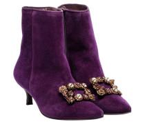 Stiefel aus Leder in Lila/Violett
