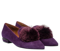 Loafer aus Leder in Lila/Violett
