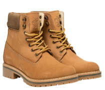 Boots aus Leder in Camel/Braun/Orange