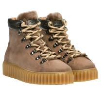 Stiefel aus Leder in Beige