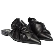 Mules aus Leder in Schwarz