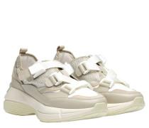 Sneaker aus Leder in Grau