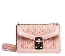 Handtasche aus Leder in Flieder/Violett