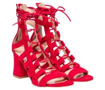 Sandalen aus Leder in Rot