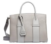 Handtasche aus Leder in Grau