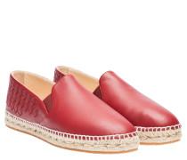 Espadrilles aus Leder in Rot