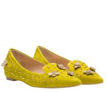 Loafer aus Leder in hellGrün