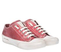 Sneaker aus Leder in Rot