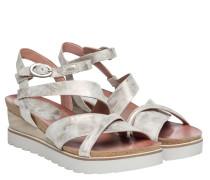 Sandalen aus Leder in Taupe/Schlamm/Braun/Grau