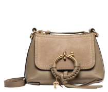 Handtasche aus Leder in Taupe/Schlamm/Braun/Grau