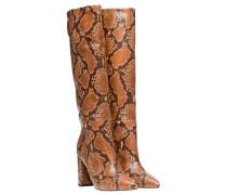 Stiefel aus Leder in Snake/Grau/Schwarz