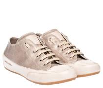 Sneaker aus Leder in Hellbraun/Braun