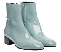 Stiefel aus Leder in Hellblau/Blau