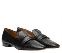 Loafer aus Leder in Schwarz