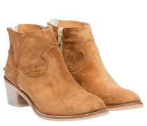 Stiefel aus Leder in Camel/Braun/Orange
