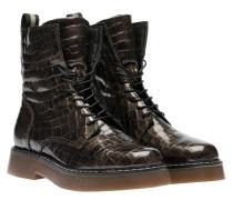 Stiefel aus Leder in Bronze/Braun/Grau/Orange
