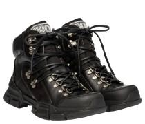 Boots aus Leder in Schwarz