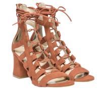 Sandalen aus Leder in Hellbraun/Braun