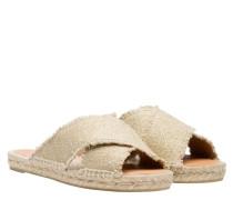 Sandalen aus Leder in Beige