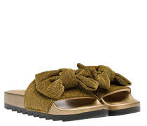Sandalen aus Gummi in Gold/Gelb