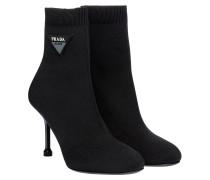 Stiefel aus Leder in Schwarz
