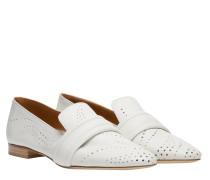 Loafer aus Leder in Wollweiß/Weiß