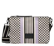 Handtasche aus Leder in Violett