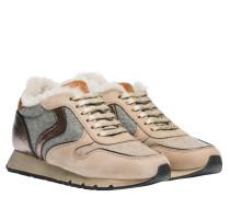 Sneaker aus Leder in Beige