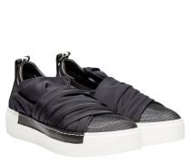 Sneaker aus Leder in Marine/Blau/Schwarz