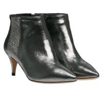Stiefel aus Leder in Silber