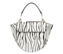 Handtasche aus Leder in Schwarz/Weiß