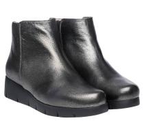 Stiefel aus Leder in Anthrazit/Grau