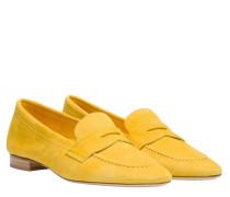 Loafer aus Leder in Gelb