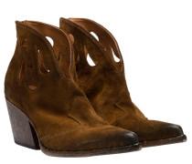 Stiefel aus Leder in Braun