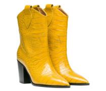 Stiefel aus Leder in Gelb