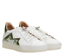 Sneaker aus Leder in Weiß