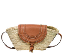 Handtasche aus Leder in Camel/Braun/Orange