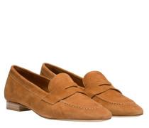 Loafer aus Leder in Camel/Braun/Orange