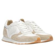 Sneaker aus Leder in Sand/Braun/Beige