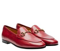 Loafer aus Leder in Rot