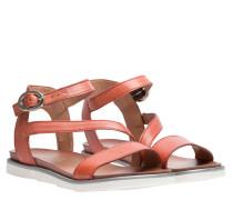 Sandalen aus Leder in Rost/Braun/Rot