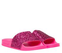 Sandalen aus Leder in Pink/Rosa/Violett