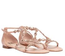 Sandalen aus Leder in Rosa